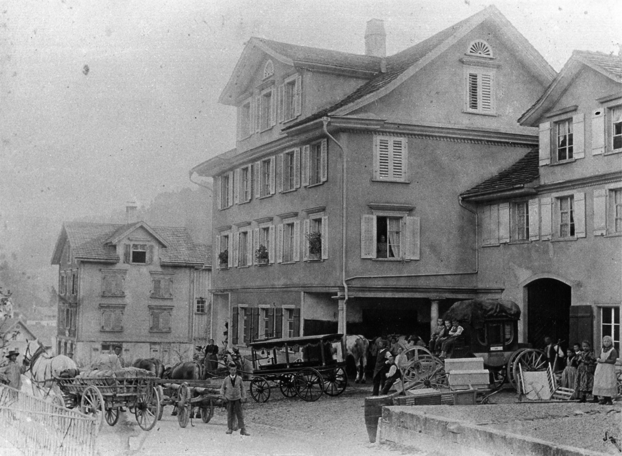 Wilerstrasse 137 in Lichtensteig - Ursprünglicher Sitz der Högg AG Produktionstechnik (um 1900) - Högg AG Produktionstechnik