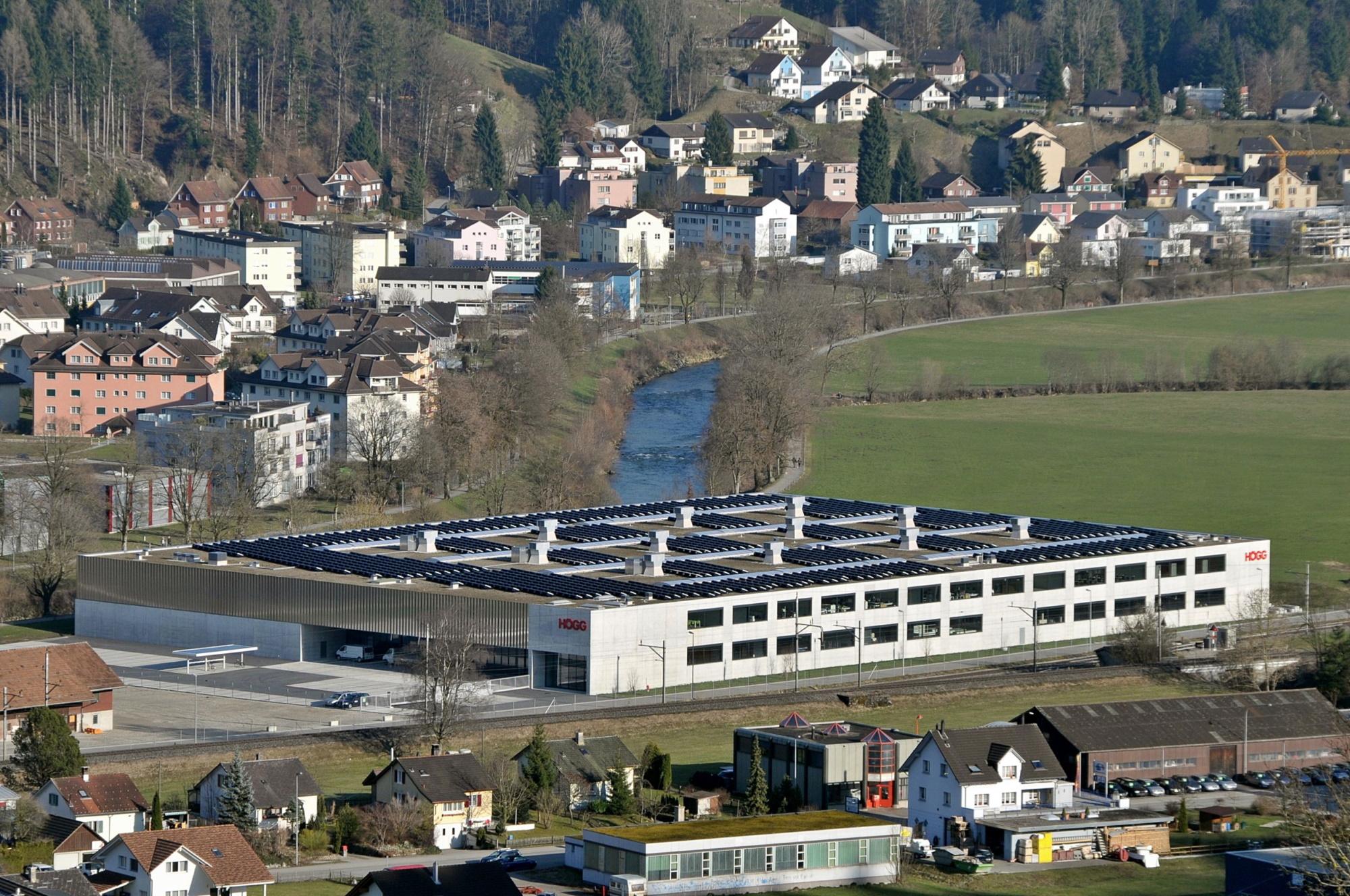 Högg AG Produktionstechnik an der Austrasse 25 in Wattwil (Foto von ca. 2011) - Högg AG Produktionstechnik